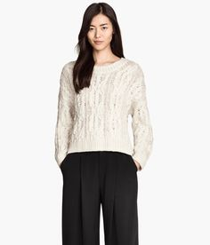 Product Detail | H&M US Cable-knit Sweater $20 $34.95 COLOR: Natural white