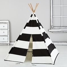 Imaginary_Teepee_BK_Stripe | I can't wait to get this for my boy's playroom when it's finished!! | Land of Nod