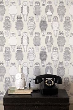 Owls of the British Isles Wallpaper by Abigail Edwards