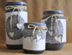 1000 images about idee per la casa on pinterest shabby - Vasetti di vetro decorati ...