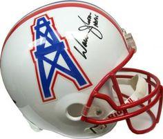 447f5aba1c13 Warren Moon Autographed Houston Oilers White Full-Size Helmet - UDA COA