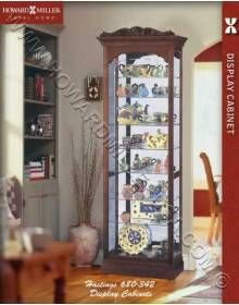 Howard Miller Traditional Small Cherry Curio Cabinet 680342 Hastings This Collectors Display