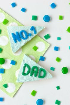 DIY Father's Day Treat | Pennant Flag Cookies