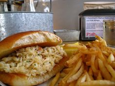 Fish. Dungeness Crab Sandwich. Sustainable responsible restaurant.