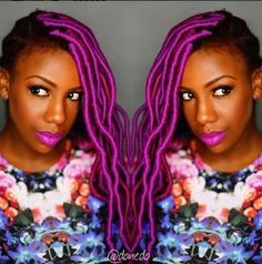 BN Beauty: Make A Bold Statement with Your Hair – Try Purple Faux Locs!
