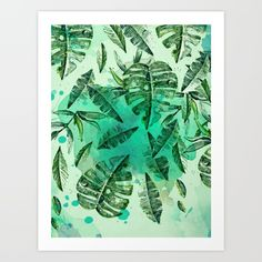 Leaves art print by Sametsevincer, $16.64.  https://society6.com/product/leaves-r9b_print?curator=bestreeartdesigns