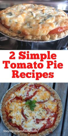 Baked Tomato Recipes, Pie Recipes, Great Recipes, Favorite Recipes, Dinner Recipes, Southern Tomato Pie, Plum Pie, Frozen Pie Crust, Garden Tomatoes