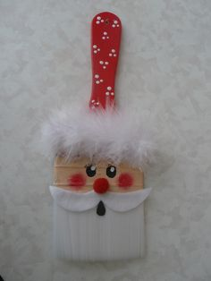 Santa on paintbrush