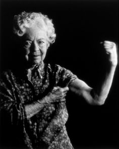 Flex those muscles grandma! It's never too late, people. Never.