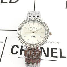 Luxurious Silver Rhinestone Watch