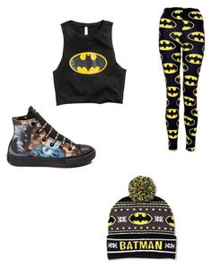 """Batman mood"" by x5sauceloverx on Polyvore featuring Converse"