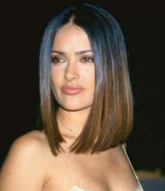Salma Hayek Hairstyles: Ombre Long Bob