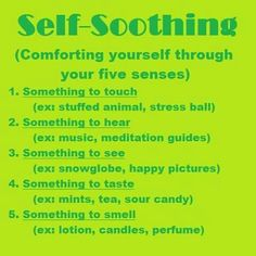 How to self sooth