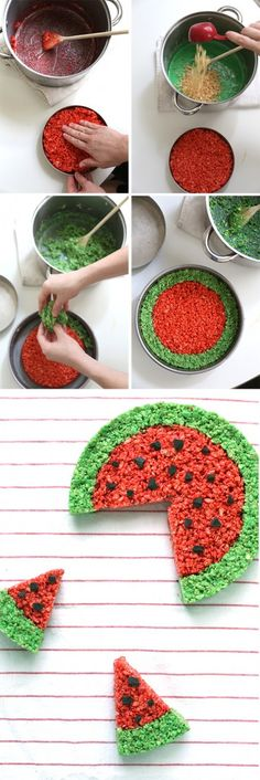 watermelon rice krispie