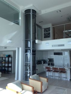 Here you can find some photos of the pneumatic vacuum elevators that we've i… - Home Technology House Lift, Elevator Design, Home Technology, Medical Technology, House Elevation, Home Automation, Smart Home, House Plans, New Homes