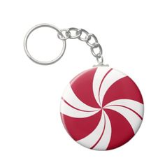 Peppermint Swirl Stripe Candy Key Chains   •   This design is available on t-shirts, hats, mugs, buttons, key chains and much more   •   Please check out our others designs at: www.zazzle.com/ZuzusFunHouse*