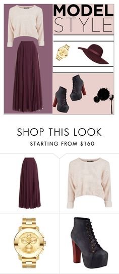 """Untitled #19"" by nerkaceba ❤ liked on Polyvore featuring Halston Heritage, Movado, Jeffrey Campbell, Topshop, women's clothing, women, female, woman, misses and juniors"