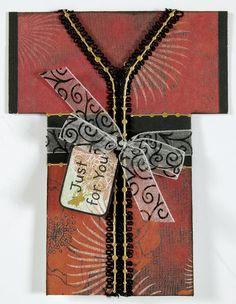 paper wishes kimono shaped card