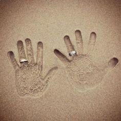 Cute wedding idea for a beach wedding