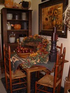 Autumn-colored dining area~