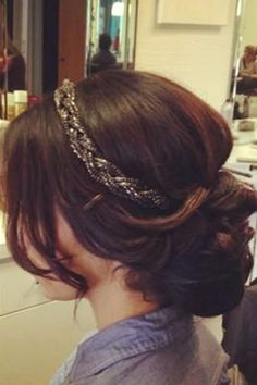 accessorized holiday party hairstyle