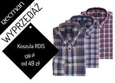 Wszystkim miłośnikom koszul w kratę proponujemy koszulę Rois. Tylko teraz może być Twoja w specjalnej niższej cenie.http://bit.ly/Recman_KoszuleRois