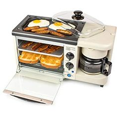 Toaster Ovens 2 Slice Bisque Multi function Breakfast Station - Ovens - Ideas of Ovens Mini Kitchen, Kitchen Dining, Kitchen Decor, Decorating Kitchen, Kitchen Tables, Kitchen Furniture, Kitchen Storage, Furniture Design, Home Depot