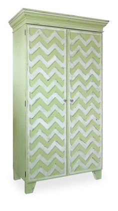Chevron armoire from Chatham Hill