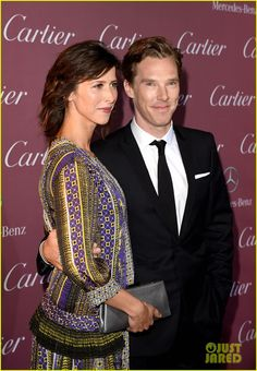Benedict Cumberbatch and his fiancée Sophie Hunter at the 26th Annual Palm Springs International Film Festival.