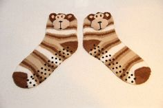 Socks with a monkey, winter socks, socks for a gift for the new year, 3D socks, Women's socks, Warm socks
