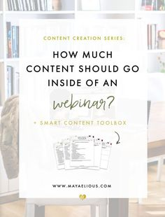 Today we'll talk about planning a webinar. I thought it was so important for me to touch on webinars because webinars are the epitome of smart content.