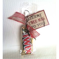 Say Merry Twix-Mas this Christmas! Say Merry Twix-Mas this Christmas! Neighbor Christmas Gifts, Christmas Stocking Stuffers, Neighbor Gifts, Noel Christmas, Holiday Gifts, Christmas Stockings, Christmas Ideas, Handmade Christmas, Christmas Candy Gifts