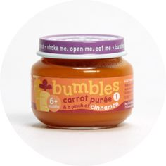 Bumbles™ Baby Food Carrot Purée and a pinch of Cinnamon on bumbles.co.za Baby Food Recipes, Carrots, Salsa, Cinnamon, Jar, Healthy, Recipes For Baby Food, Canela, Carrot