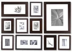P1013 Silver 1 inch Perfect Picturewall + FREE US SHIPPING | Picturewall® Instant Gallery Wall Solution with hanging Frame Templates