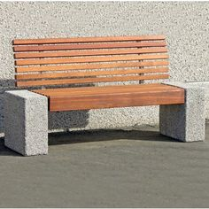 Gala Seat. A bold combination of timber and concrete. Its contemporary yet durable design makes it a practical choice for most outdoor public spaces. Available as a polygon seating arrangement.  Also available as a bench with partial back rests. Length:1600mm or 2200mm. Width:390mm. Height:910mm.