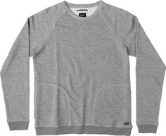 The RVCA Balance Crew is a French terry, crew neck sweatshirt with patch pockets at the lower front and ribbing at the cuffs and hem.