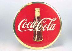Original Vintage Coca-Cola Celluloid Button Sign