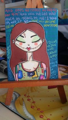 Artist Trading Card  #whimsical #girl #cute #nightmarebeforechristmas #sally #promarkers