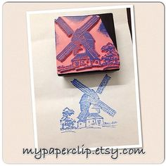 Windmill craft stamp for scrapbooking and cardmaking