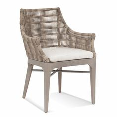 Braxton Culler Gulfport Patio Dining Chair with Cushion Bistro Chairs, Outdoor Dining Chairs, Dining Arm Chair, Dining Table, Arm Chairs, Lounge Chairs, Dining Room, Outdoor Armchair, Outdoor Sofas