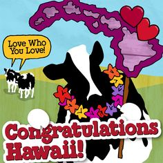 A great big congratulations to Hawaii for supporting marriage equality! We're another step closer to everyone having the right to love who they love.