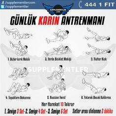 Fazla vaktim yok diyorsanız ve günü boş geçirmek istemiyorsanız kısa sürede uygulayabileceğiniz bu karın antrenmanı ile günü kurtarın! #abs #workout #fitness #health