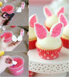 Cute Easter cup cakes