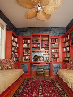 Shawn Colvin's home library from HGTV Celebrities at Home