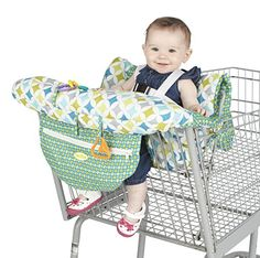Foldable Baby Shopping Cart Cushion Infant Trolley Chair Seat Mat Baby Shopping Push Cart Protection Cover Toddler Trolley Pad Clear And Distinctive Activity & Gear