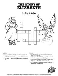 This Luke 1 Crossword Puzzle will get your kids searching their Bibles! Filled with questions from The Story of Elizabeth Sunday School lesson this printable activity is a teachers dream come true! Bible Videos For Kids, Bible Activities For Kids, Sunday School Activities, Sunday School Lessons, Bible For Kids, Puzzles For Kids, Printable Crossword Puzzles, Effective Learning, Luke 1