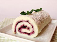 Citromhab: Fehér piskóta Sponge Cake, Cake Cookies, Cookie Recipes, Sushi, Lemon, Sweets, Cooking, Ethnic Recipes, Foods