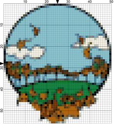 Catch the Fall Season Stitching Fever with This Free Needlepoint Chart: Day 250 of the 365 Needlepoint New Year's Resolutions Challenge