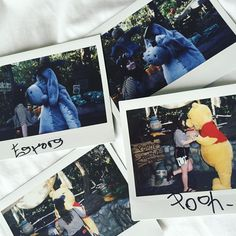 Birthday kisses from Pooh & Eeyore yesterday  because 23 just means another year for love and #disneypolaroidseries  #disneymeetandgreet #disneyland60 by shopaholickimmy