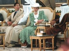 November 17, 1986: Princess Diana in Riyadh, Saudi Arabia on the last stateof their Middle East tour: They are treated to a day at the races with the jockeys competing for a Cup named after the royal couple.